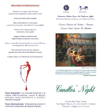 "Candle's Night Fidapa ""Riviera Ciclopi-Catania"" ""Sant'Agata li Battiati"""
