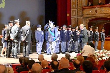 Festa della Polizia. Medaglie e encomi solenni