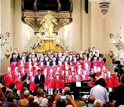 """Nello splendore del barocco vaccariniano della Badia di S. Agata, i """"Philadelphia Boys Choir and Chorale"""" arricchiscono di bellezza e internazionalità la rassegna d'arte WonderTime"""