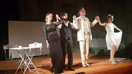 """Ha affascinato il pubblico l'atto unico di Luigi Pirandello """"L'uomo dal fiore in bocca"""", nella riduzione teatrale di Pino Pesce, al Castello Ursino per la rassegna 'Catania Summer Fest'. Attore protagonista Mario Opinato"""
