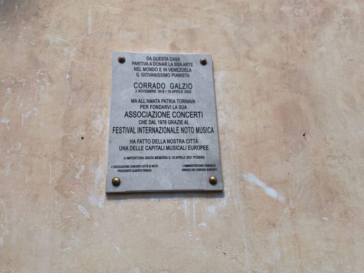 Noto ricorda il Maestro Corrado Galzio ad un anno dalla morte