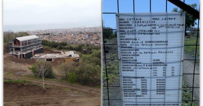 """Fermati i lavori nel cantiere della """"Dusty Immobiliare"""" avviato e riavviato sulla Timpa di Leucatia a Catania"""