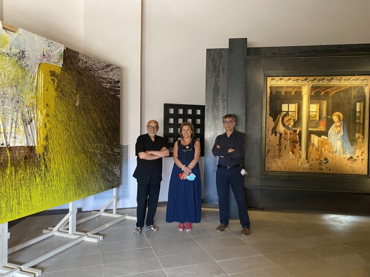 Alla Galleria Regionale di Palazzo Bellomo l'opera 79.malaktion di Hermann Nitsch